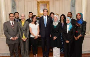 Photo with Secretary Kerry - Front